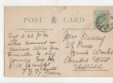 Mrs Padley SJ Pauls Brick Works Charles Street Sheffield 1905 479a