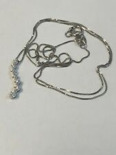 "JTW 10k White Gold Journey Diamond Pendant Necklace 18"""