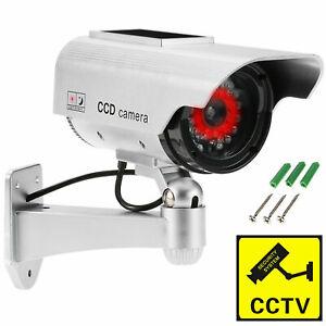 Outdoor Dummy Fake Solar LED Flashing Security Camera CCTV Surveillance Cameras