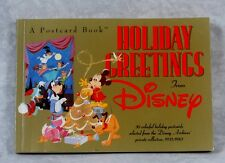 Vintage 1991 Disney Postcard Book: Holiday Greetings from Disney 30 Postcrds