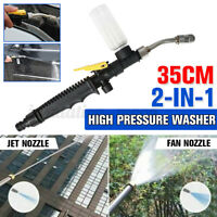 2 in 1 High Pressure Power Car Garden Water Washer Wand Spray Gun w/ Foam bottle