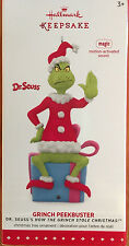 *2015 GRINCH PEEKBUSTER* Magic Talking Hallmark DR SEUSS  Ornament