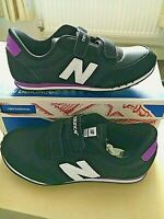 NEW BALANCE KE410BPY womens girls Trainers  uk 2.5 europe 35 Black purple NEW