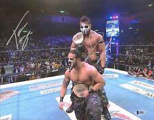 Tama Tonga & Roa Loa Signed 11x14 Photo BAS COA New Japan GOD Bullet Club WWE