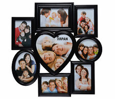 Vintage Black Multi Aperture Photo Picture Frame Holds 8 Photos,Home Decor Frame