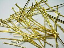 GOLD 4cm 500 Stk BEST METALL NADEL KETTEL-NIETSTIFTE