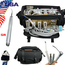 US Portable Dental turbine Unit Air Compressor Suction 3-Way Syringe Scaler FDA