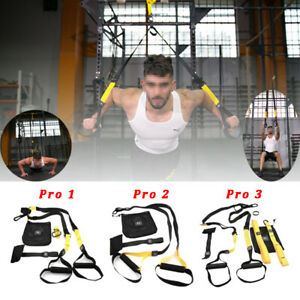 Pro3 TRX Resistance Bands Body Weight Trainer Suspension Straps Home Gym Fitness