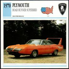 Photo/Info Maxi Card - 1970 PLYMOUTH ROAD RUNNER SUPERBIRD Classic Car