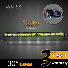 26Inch 120W Spot LED Light BAR Work Light Beam Boat SUV Offroad ATV 4x4 Jeep 12V