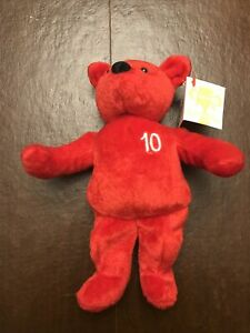 Nutrisystem Authentic weight loss Teddy bear 10lbs weight loss Red Plush NWT