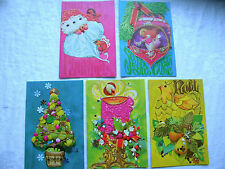 9efaa44ccc VINTAGE SEARS Box Christmas Cards 60s Mod Embossed 25 Unused 5 Designs Mod  Pink