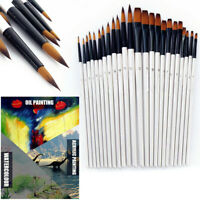 12pcs Artist Paint Brushes Set Acrylic Oil Watercolor Painting Craft Art Kit US