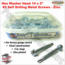 1 LB Hex Washer Head #14 x 2