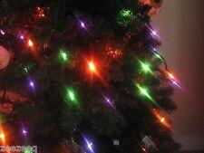 New Halloween 100ct String Lights Orange Purple Green Tree Decorations Decor
