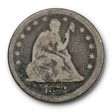 1872 25C Liberty Seated Quarter Very Good VG Original Better Date #8687