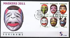 REPUBLIEK SURINAME FDC E-350 - MASKERS - 7.DECEMBER.2011