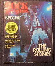 "1975 ROCK SUPERSTARS Poster Magazine VG/FN 5.0 Rolling Stones 36x22.5"""