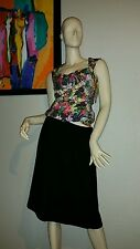 Eileen Fisher S  Black  Gathered Skirt Organic Cotton Gauze Machine Wash NWT