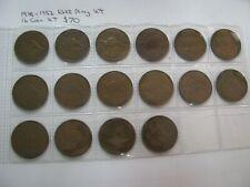 Australia Penny 1938 to 1952 KGVI Date set 16 Coin Set  Lot 1 $70