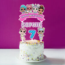 LOL SURPRISE DOLL PERSONALISED CAKE TOPPER PARTY LOLLY TAGS LOOT TOPPER FAVOUR
