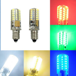 E10 Mini Base White/Warm/Red/Green/Blue LED bulb 2W 48-3014 SMD AC/DC12V Light