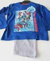 ca3638ab38 Pyjama Set Schlafanzug Jungen Marvel Avengers blau grau Gr. 104 116 128 140  #43