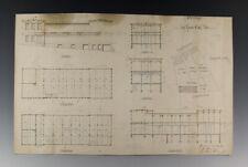 Architektur Zeichnung Papierlager in Remscheid 1897