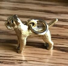 Beaucoup Designs 14K Gold Plated Border Terrier Dog Charm Made In Usa