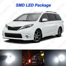 13x Ultra White LED Lights Interior Package kit for 2004-2015 2016 Toyota Sienna