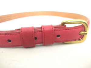 Georgetown Leather Design Womens 28/70 Pinkish Red Marked Glove Leather Belt Vtg