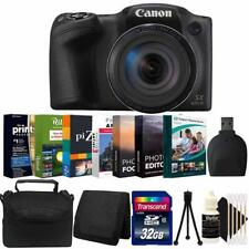 Canon Powershot SX420 IS Digital Camera Black with Photo Editing  Software Kit