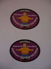 "2 x Ben & Jerry's ""Honorary Friend Of The Girth"" Collectable Fridge Magnets"