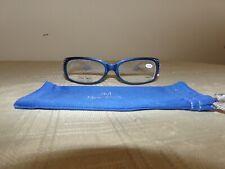Joy Mangano Glasses, +2.50, Blue, New