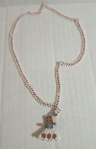 Girl Beaded Necklace with Seed Beads for Girls EUC