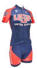 Cuore Team USA Short Sleeve Cycling Kit Women XS Jersey + Bib Shorts Road Bike