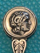 "Head of Julius Caesar or other Roman Emperor 4 3/4"" Sterling Silver (800) Spoon"