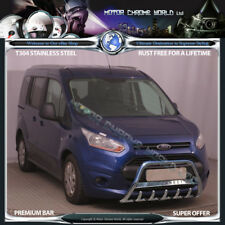 FORD TRANSIT TOURNEO CONNECT BULL BAR CHROME AXLE NUDE A-BAR LOGO 2014-2017 NEW