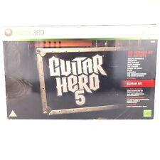 Guitar Hero 5 (paquete De Guitarra) En Caja Paquete Xbox 360 Inalámbrico Guitarra + Juego Funciona
