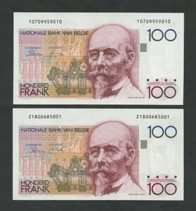 BELGIUM 100 francs 1982 Krause 142  Uncirculated  Banknotes