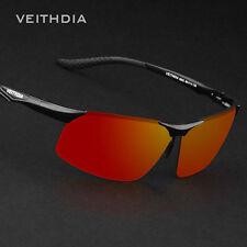 Genuine Veithdia Men's Polarized UV400 Aluminum Aviator Sunglasses (Red lens)
