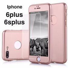 Iphone 6plus/ 6splus 360 Hybrid Full body case w/Tempered Glass - Rose Gold