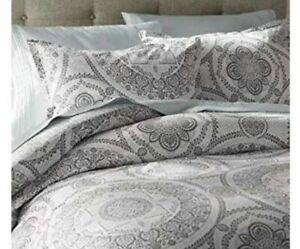 Mercury Row Braden Gray Medallion Twin 2 Piece Comforter Set NEW