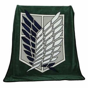 Attack on Titan Survey Coral Fleece Flannel Plush Sheet 125*155cm Blanket Gift