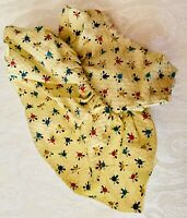 Vintage Ginny Type Doll Dress In Sunny Yellow Print