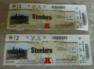 PITTSBURGH STEELERS 2008 AFC CHAMPIONSHIP GAME TICKETS VS RAVENS HEINZ FIELD 09