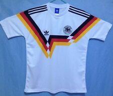 1990 Alemania Occidental Camisa Grande Deutschland Copa del Mundo de calidad increíble Bordado