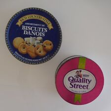 2 boites QUALITY STREET NESTLE + RICH COUTRY STYLE biscuits danois vintage XXe