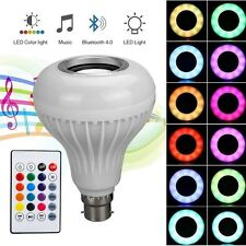 12W B22 LED RGB Bluetooth Speaker Bulb Wireless Party Music Playing Light Lamp