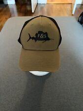 New ListingField & Stream Men's Fish Green Trucker Hat Snapback Osfm W/ Black Logo Shark!